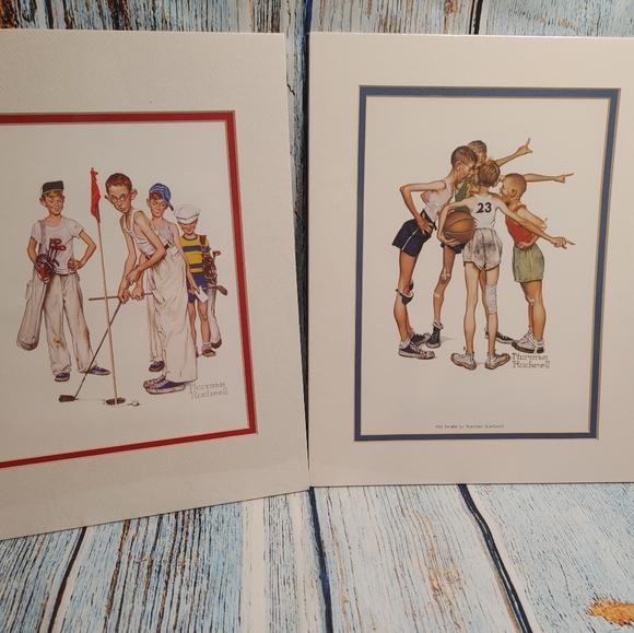 2 Norman Rockwell 11 X 14 Art Prints